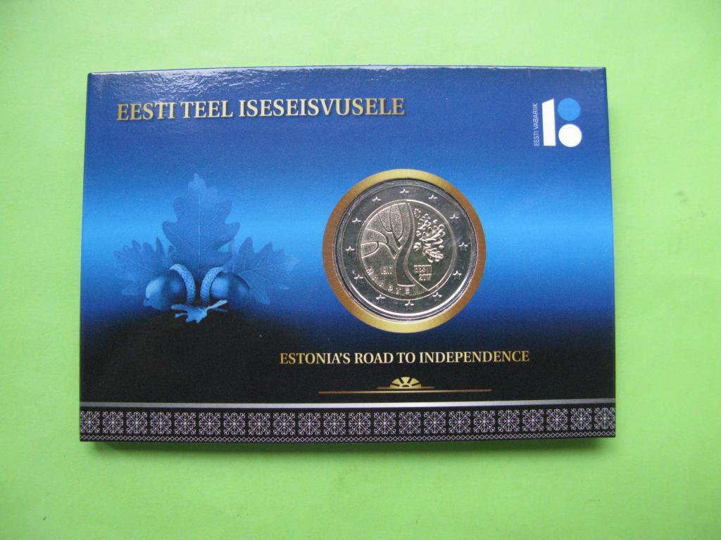 Эстония 2 евро 2017 г. Дорога Эстонии к независимости .