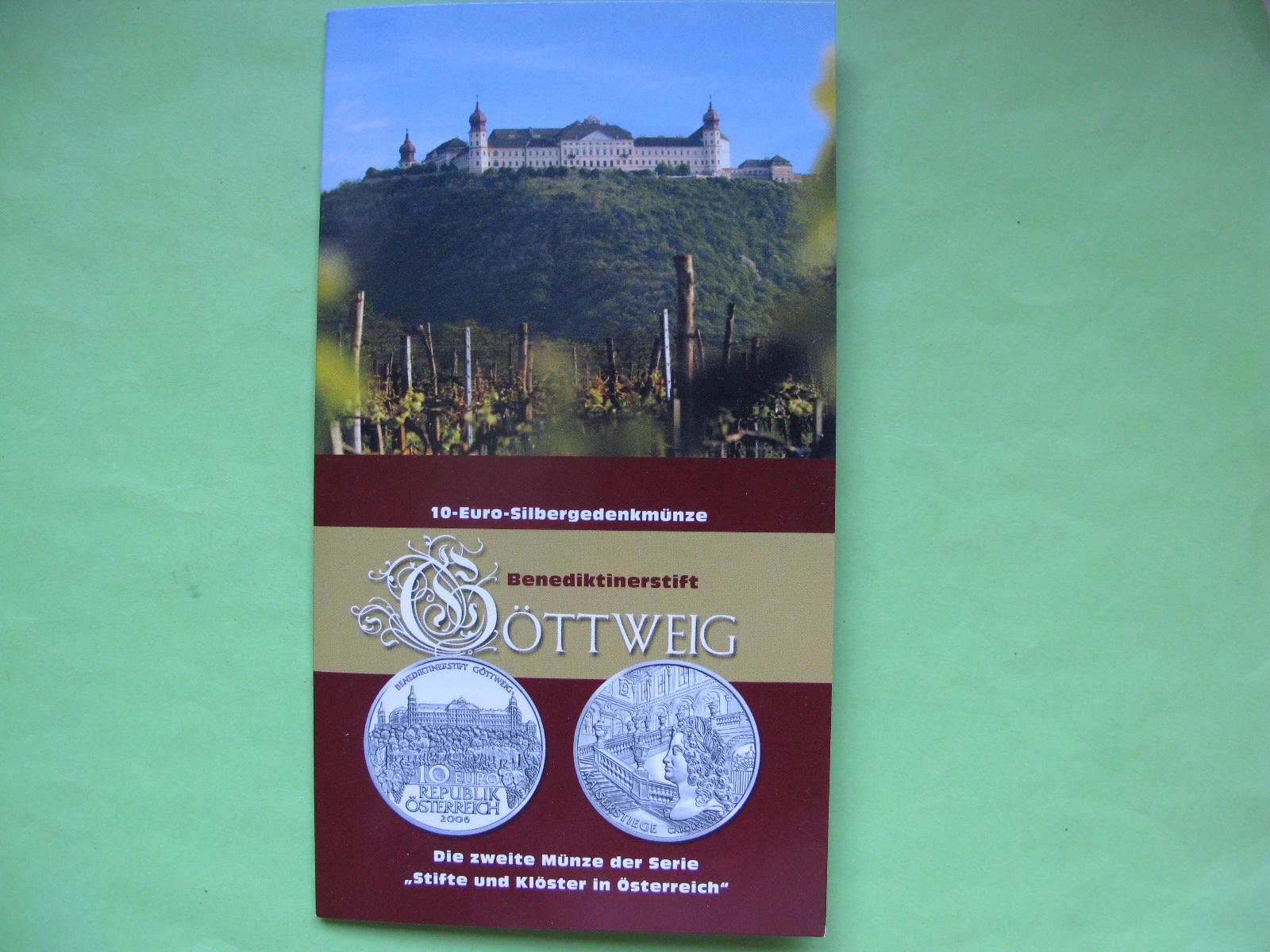 Австрия 10 евро 2006 г. Аббатство Гёттвайг