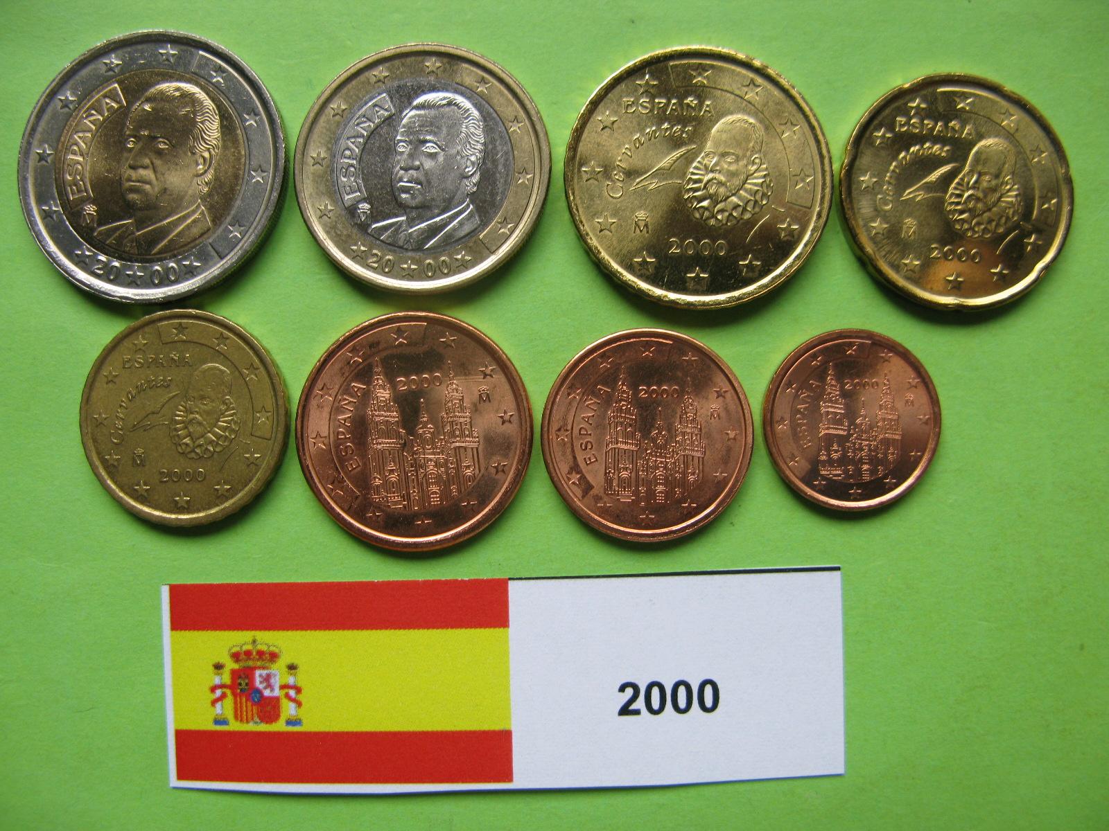 Испания набор  евро 2000 UNC.