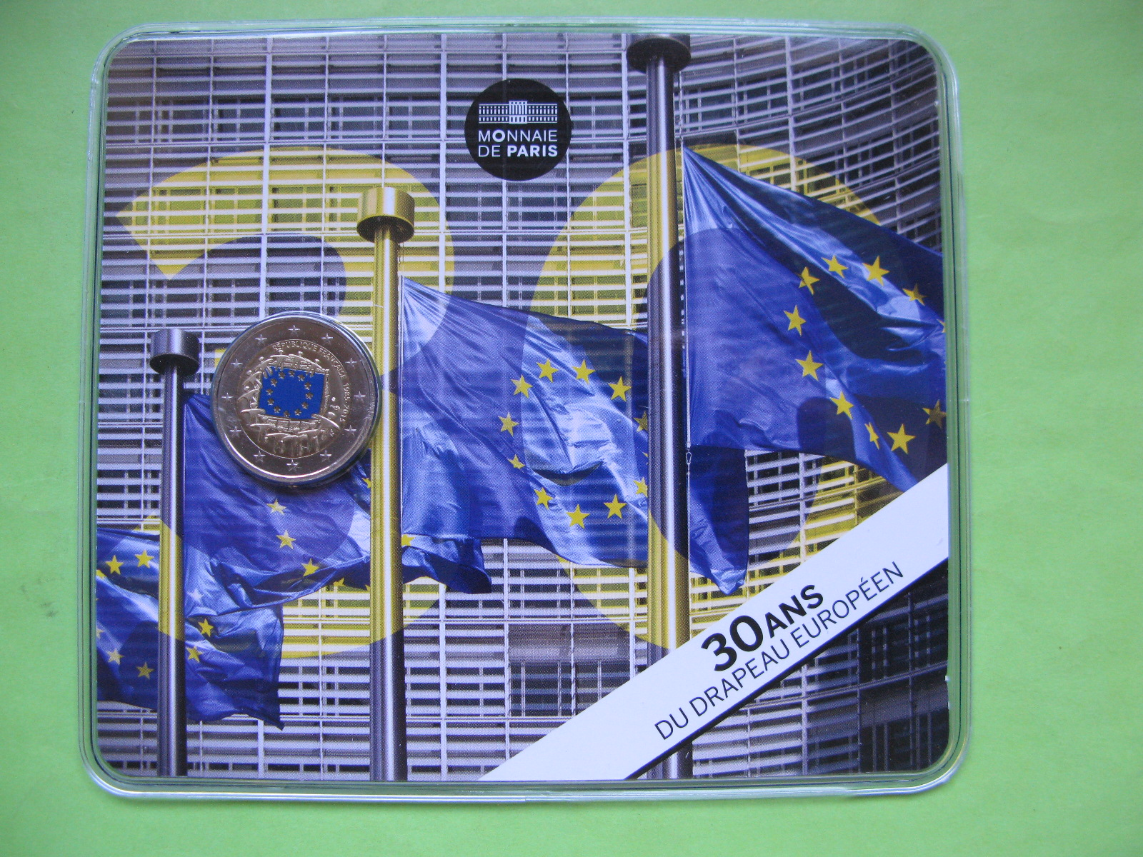 Франция 2 евро 2015 г. 30 лет флагу Евросоюза