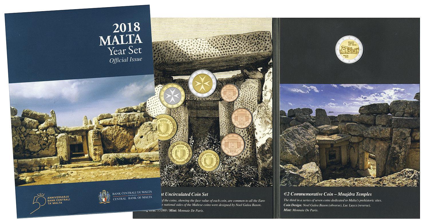 Мальта официальный набор евро 2018 г.