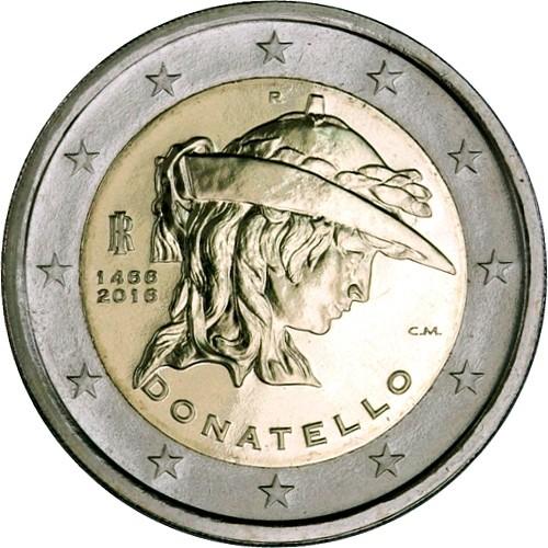 Италия 2 евро 2016 г.  Донателло