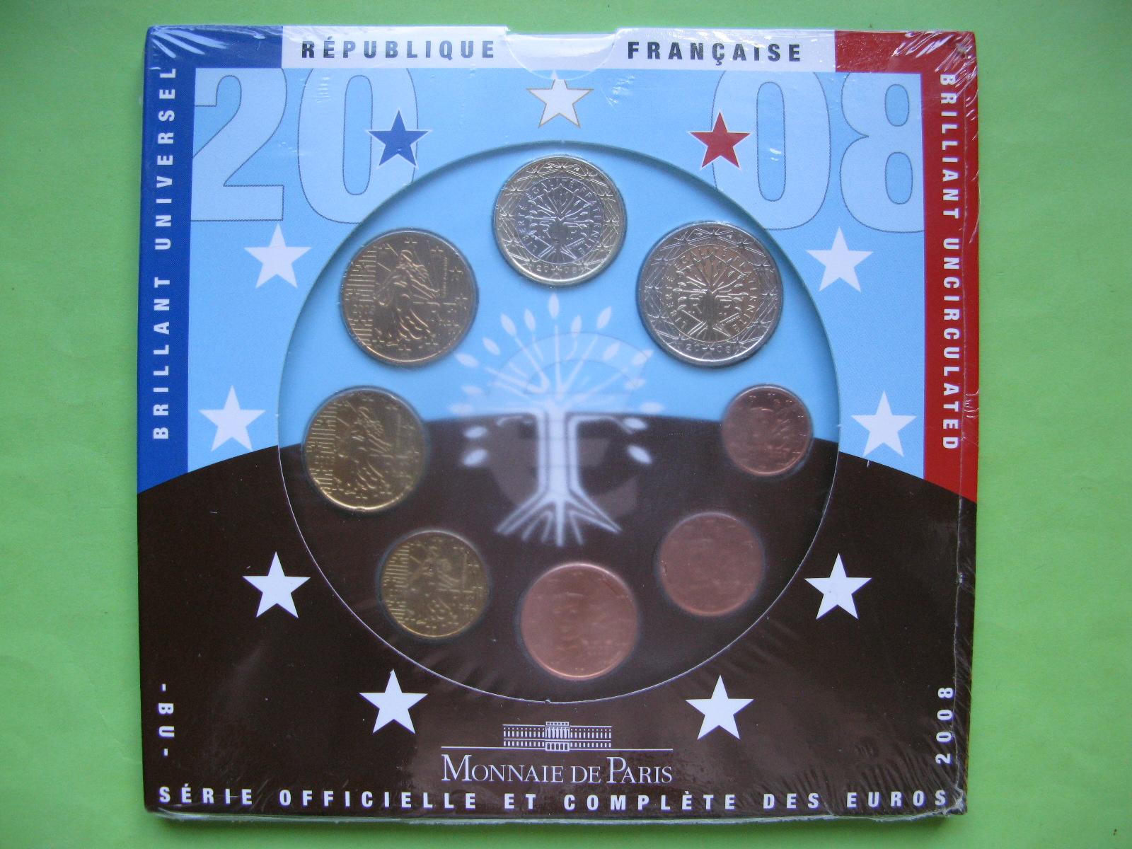 Франция официальный набор евро монет 2008 г.