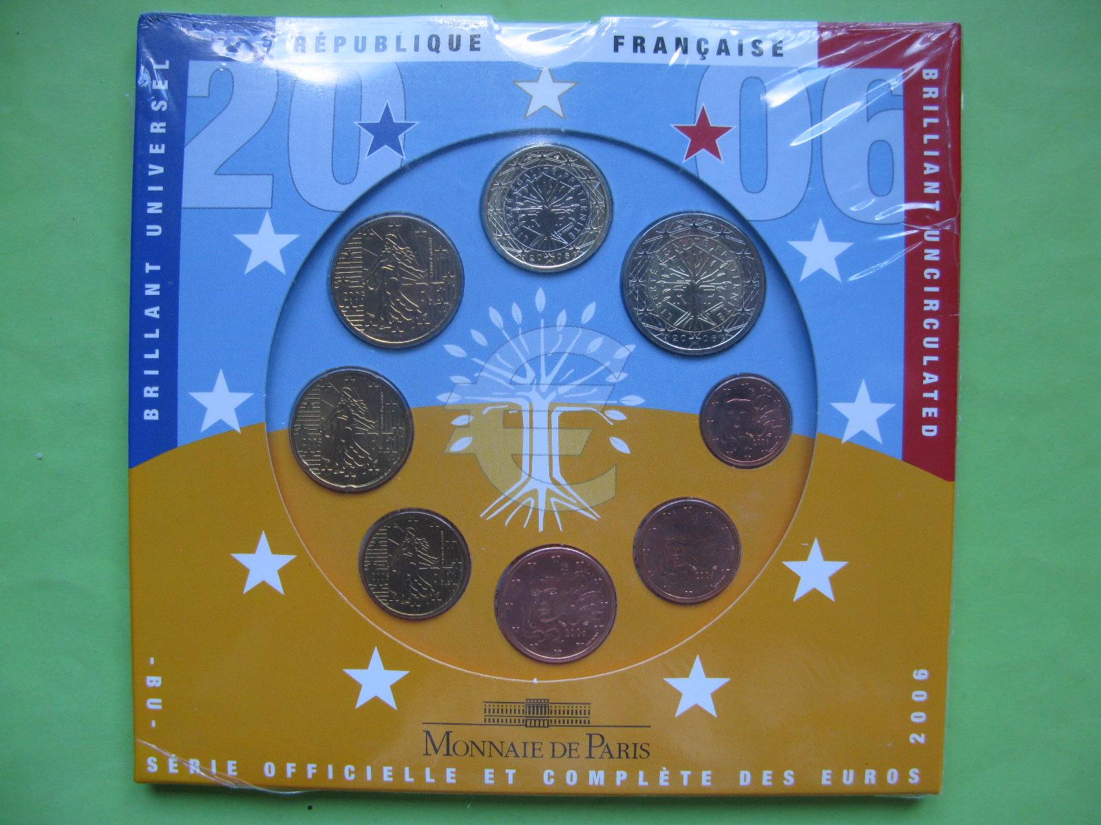 Франция официальный набор евро монет 2006 г.
