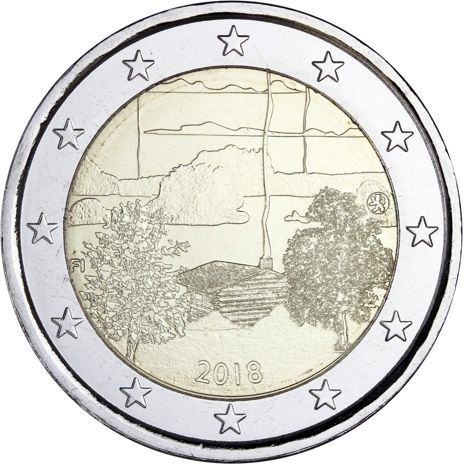 Финляндия 2 евро 2018 г. Культура финской сауны