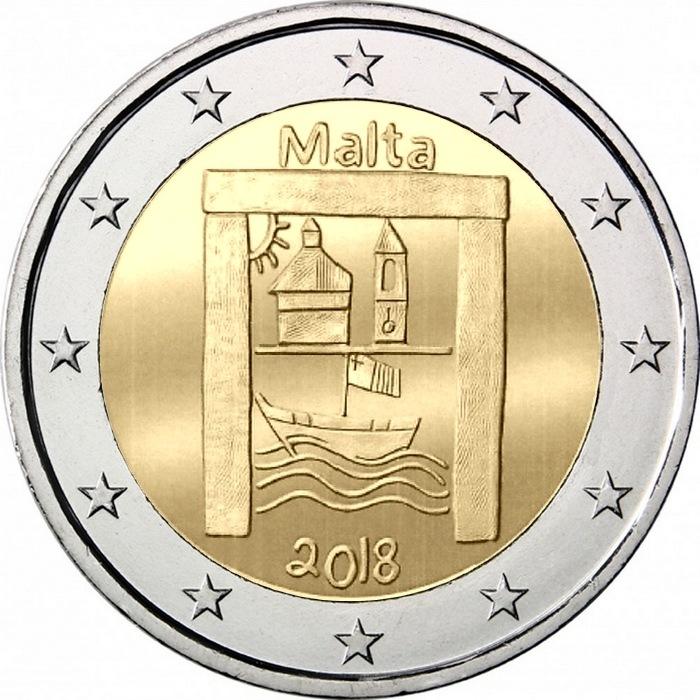 Мальта 2 евро 2018 г. Культурное наследие