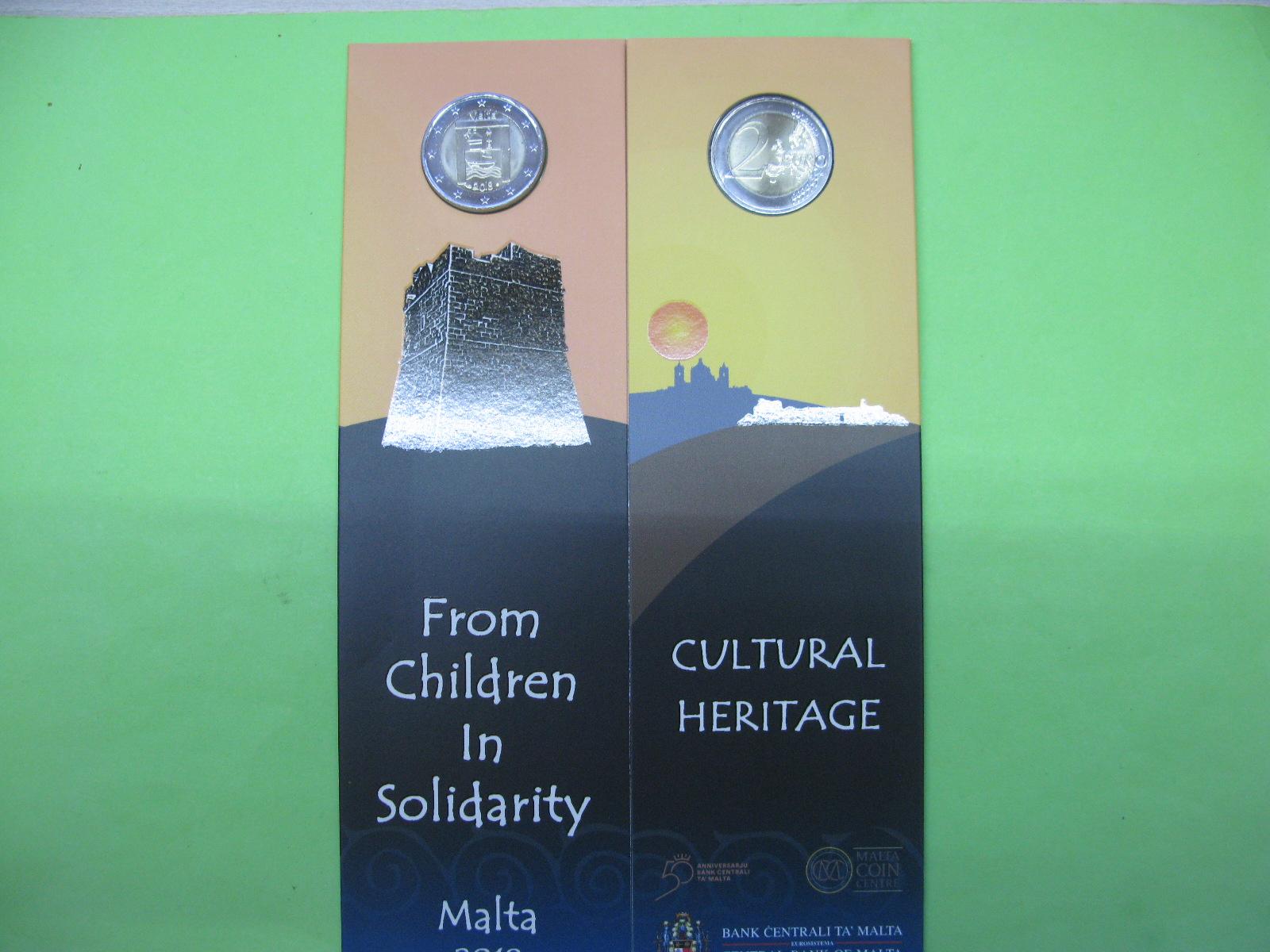 Мальта 2 евро 2018 г. Культурное наследие(в карточке)