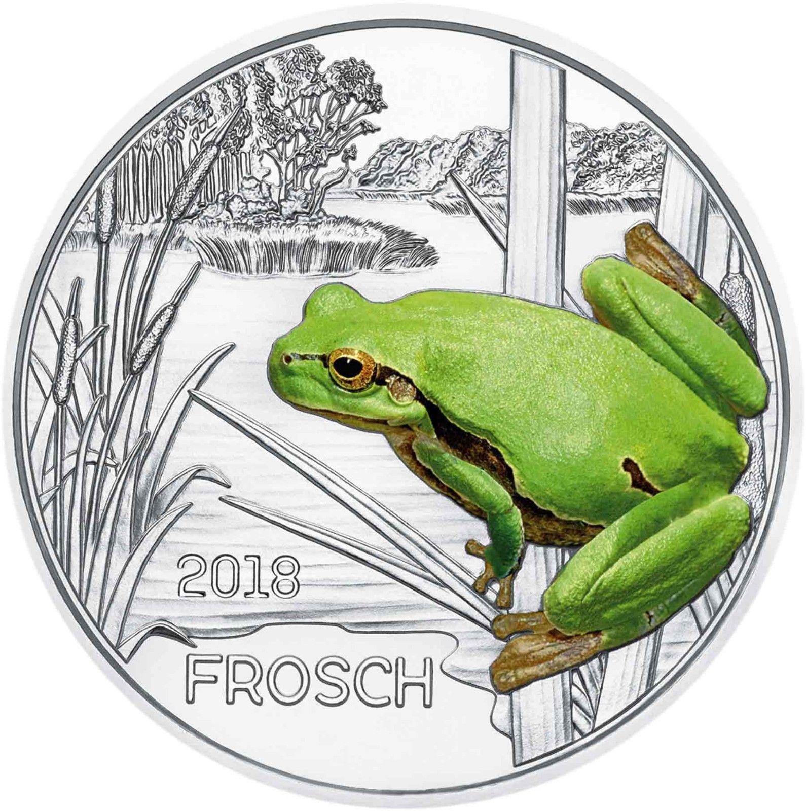 Австрия 3 евро 2018 г. Лягушка