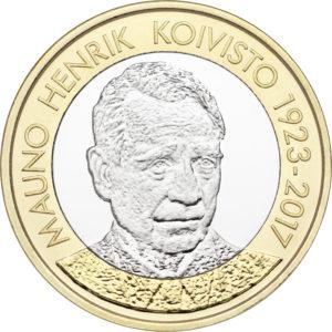 Финляндия 5 евро 2018 г. Президент №9 Мауно Койвисто