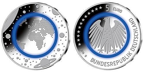 Германия  5 евро 2016 г.  G