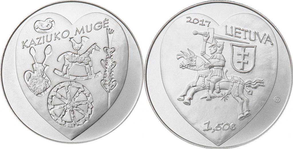 Литва 1,5 евро 2017 г. Ярмарка Казюкаса в Вильнюсе