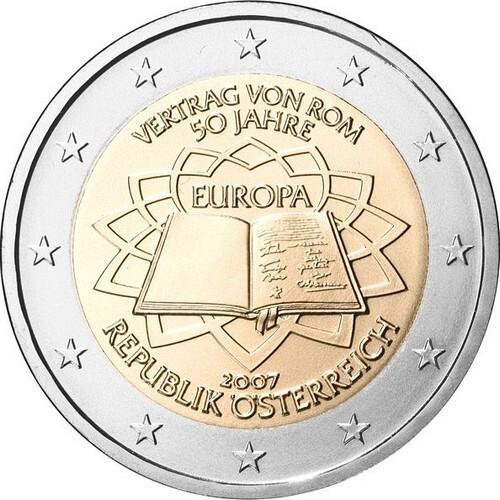 Австрия 2 евро 2007 г. Римский договор