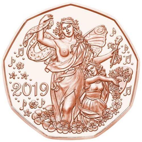 Австрия 5 евро 2019 г. Жизнерадостность