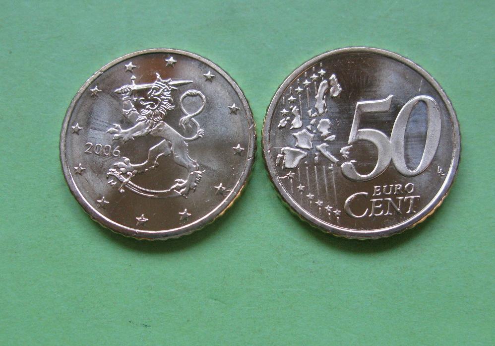 Финляндия 50 евро центов 2006 г.