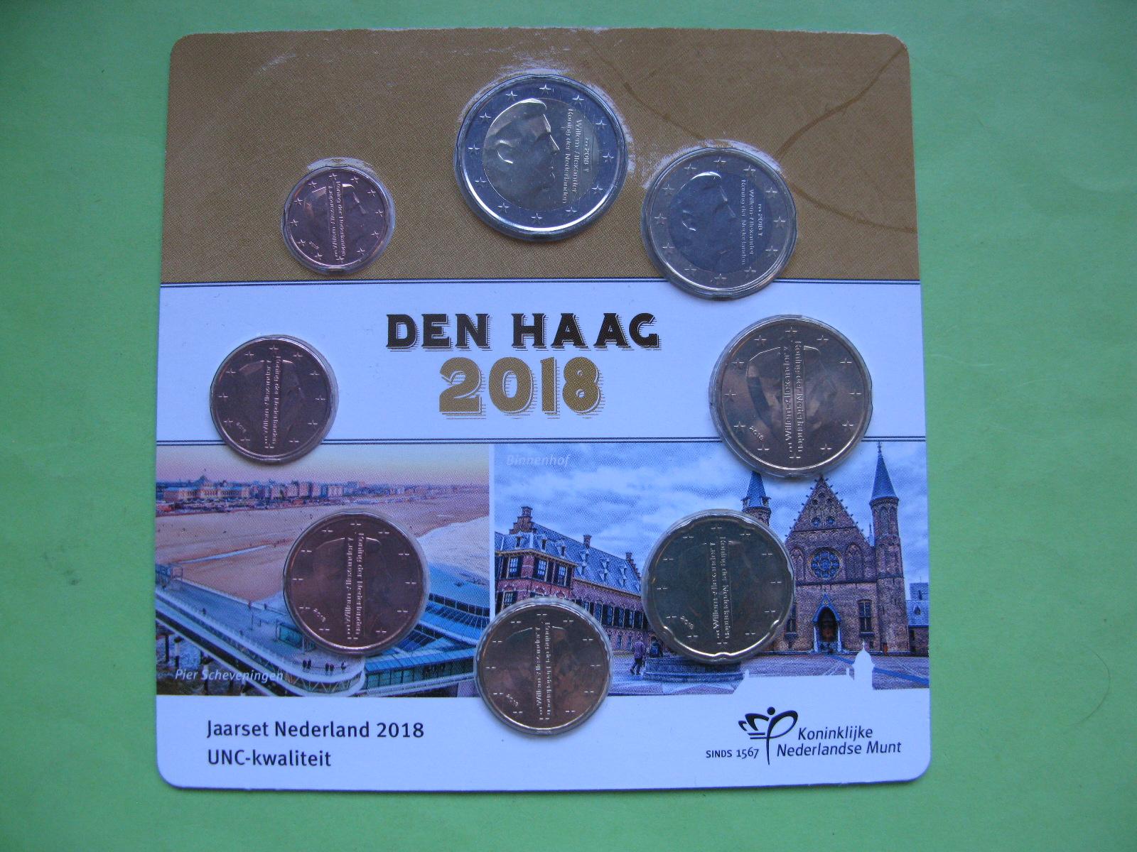 Нидерланды , официальный набор евро  2018 г.