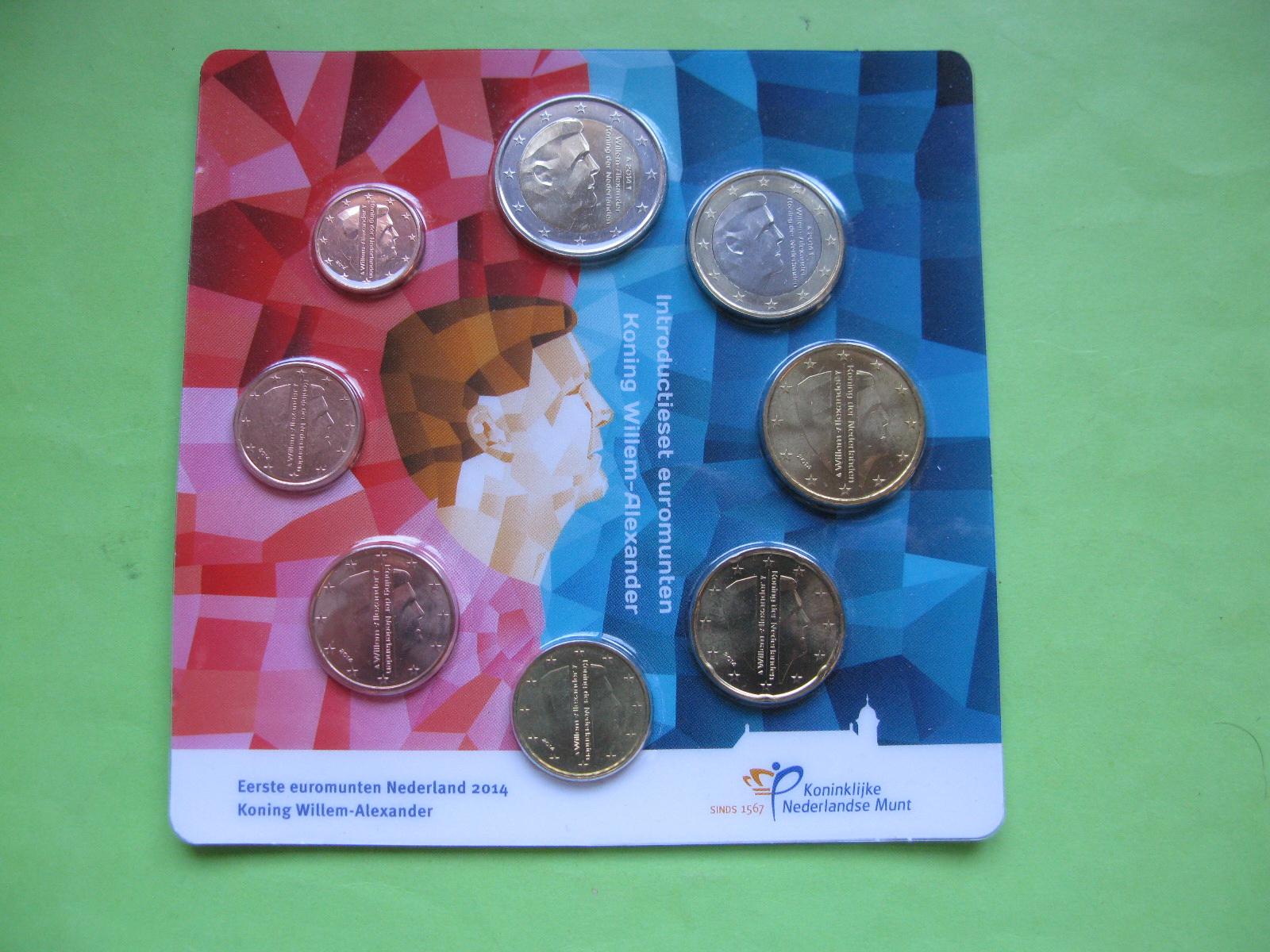 Нидерланды , официальный набор евро  2014 г.