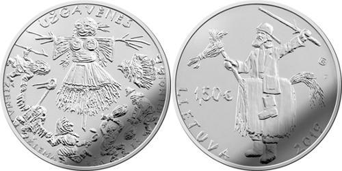 Литва 1,5 евро 2019 г. Ужгавенес- литовская масленица