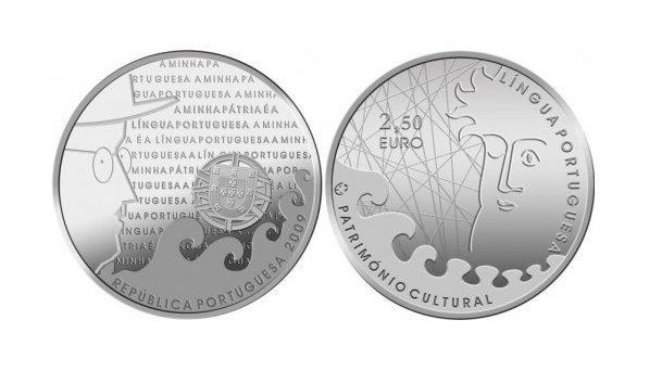 Португалия 2,5 евро 2009 г. Португальский язык