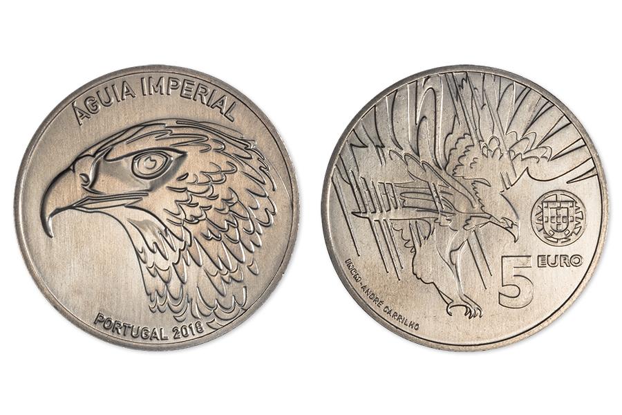 Португалия 5 евро 2018 г. Императорский орел