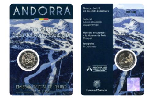Андорра 2 евро 2019 г. Кубок мира по горнолыжному спорту