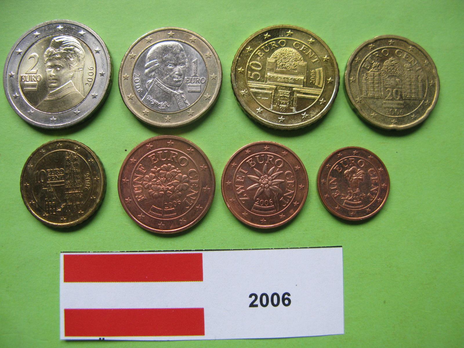 Австрия набор евро 2006  UNC