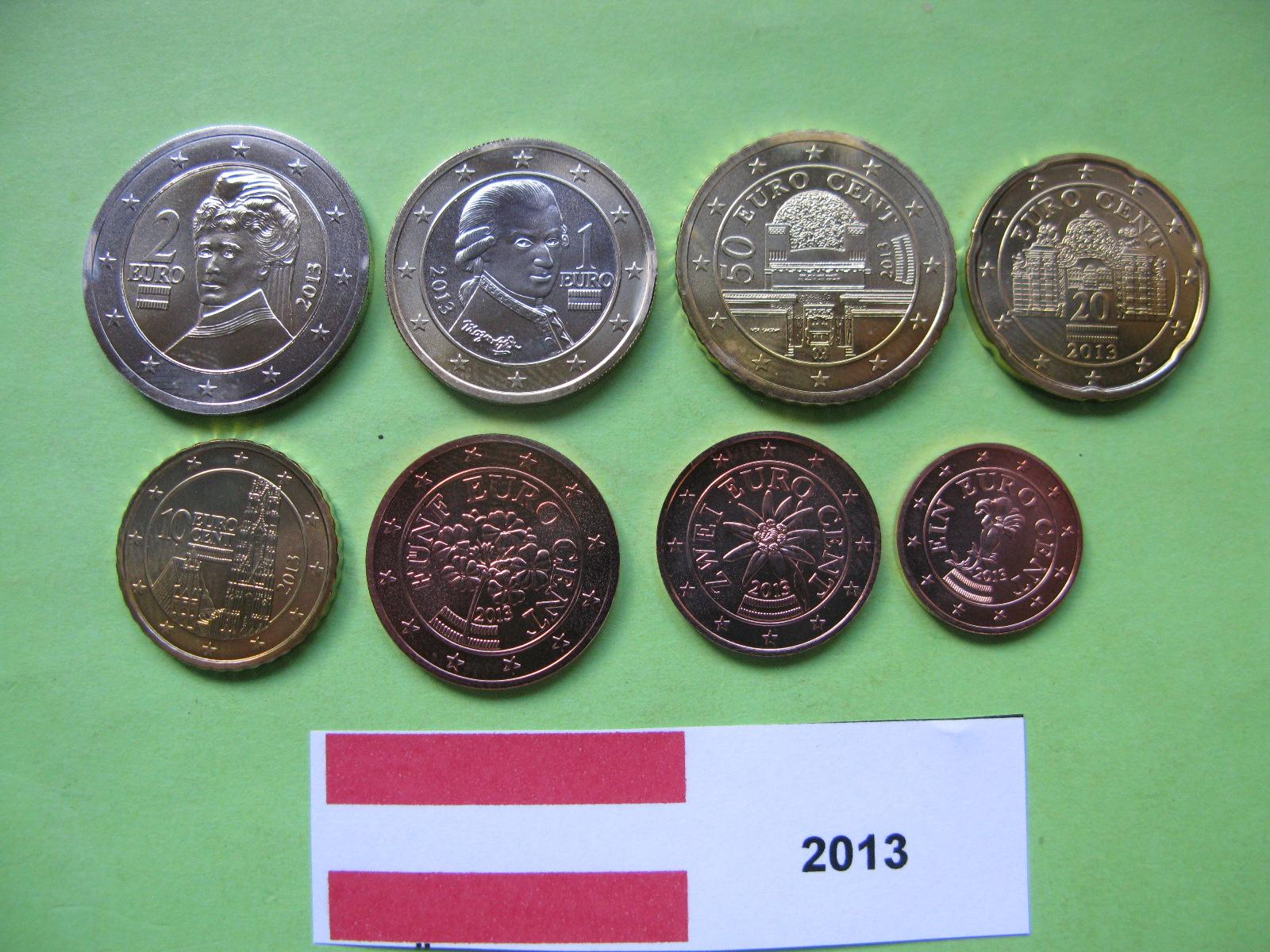 Австрия набор евро 2013  UNC
