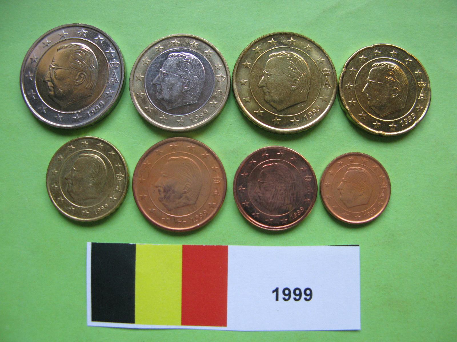 Бельгия набор евро 1999  UNC