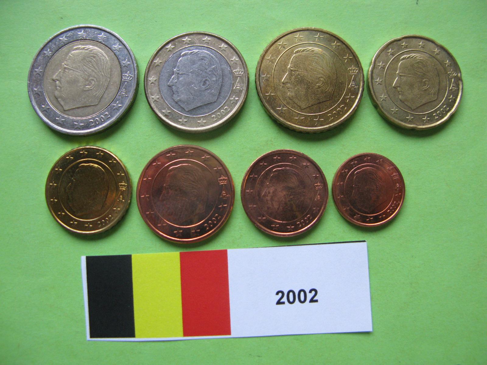 Бельгия набор евро 2002  UNC
