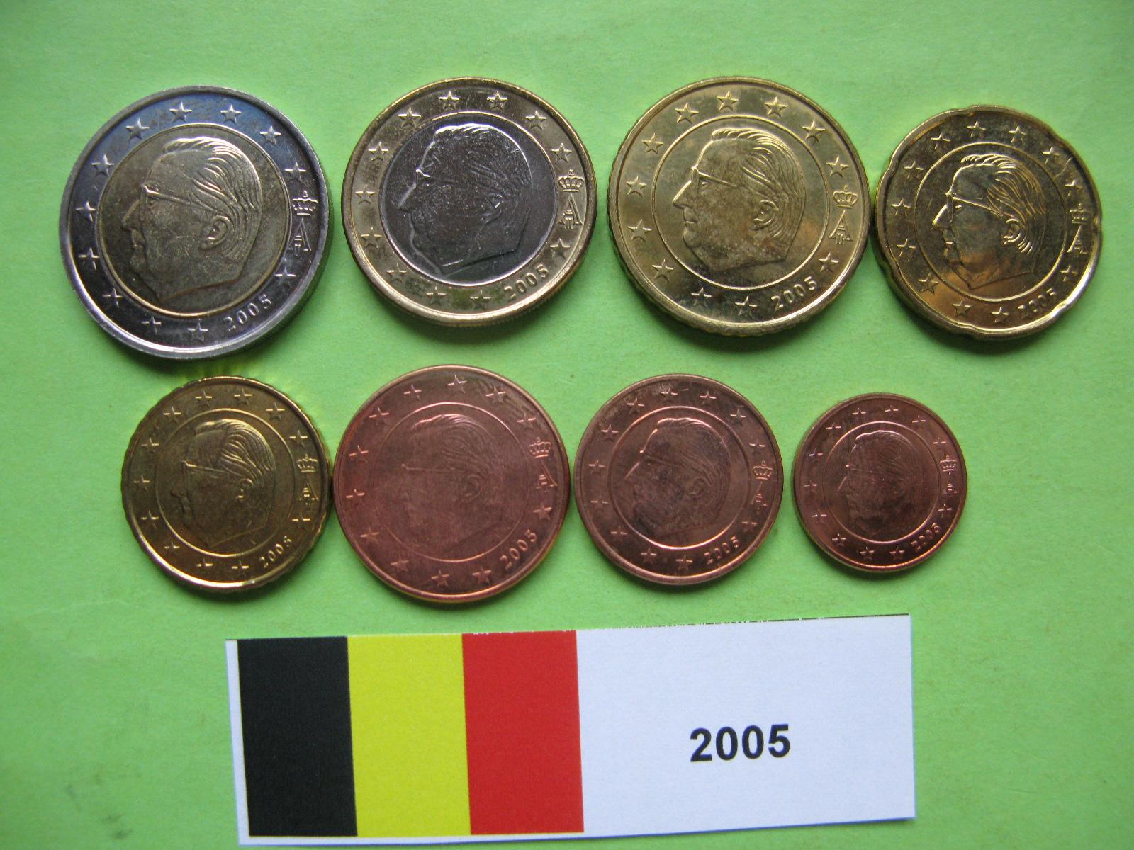 Бельгия набор евро 2005  UNC