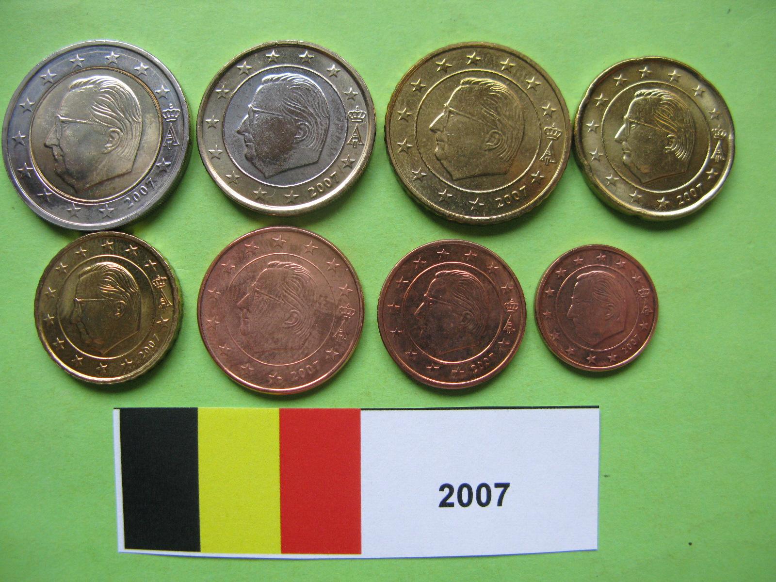 Бельгия набор евро 2007  UNC