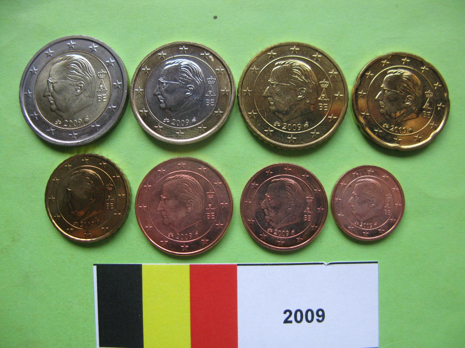 Бельгия набор евро 2009  UNC