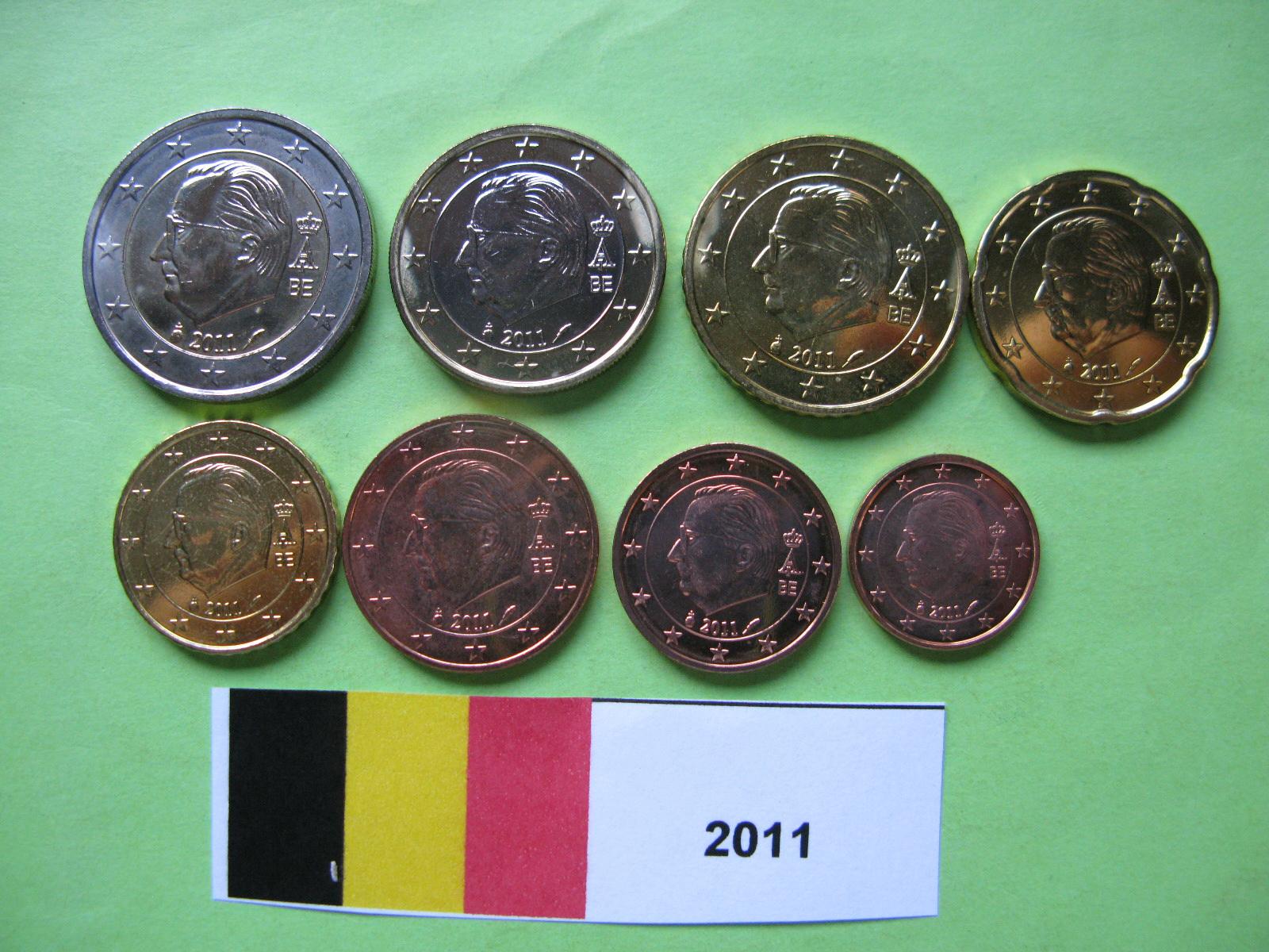 Бельгия набор евро 2011  UNC