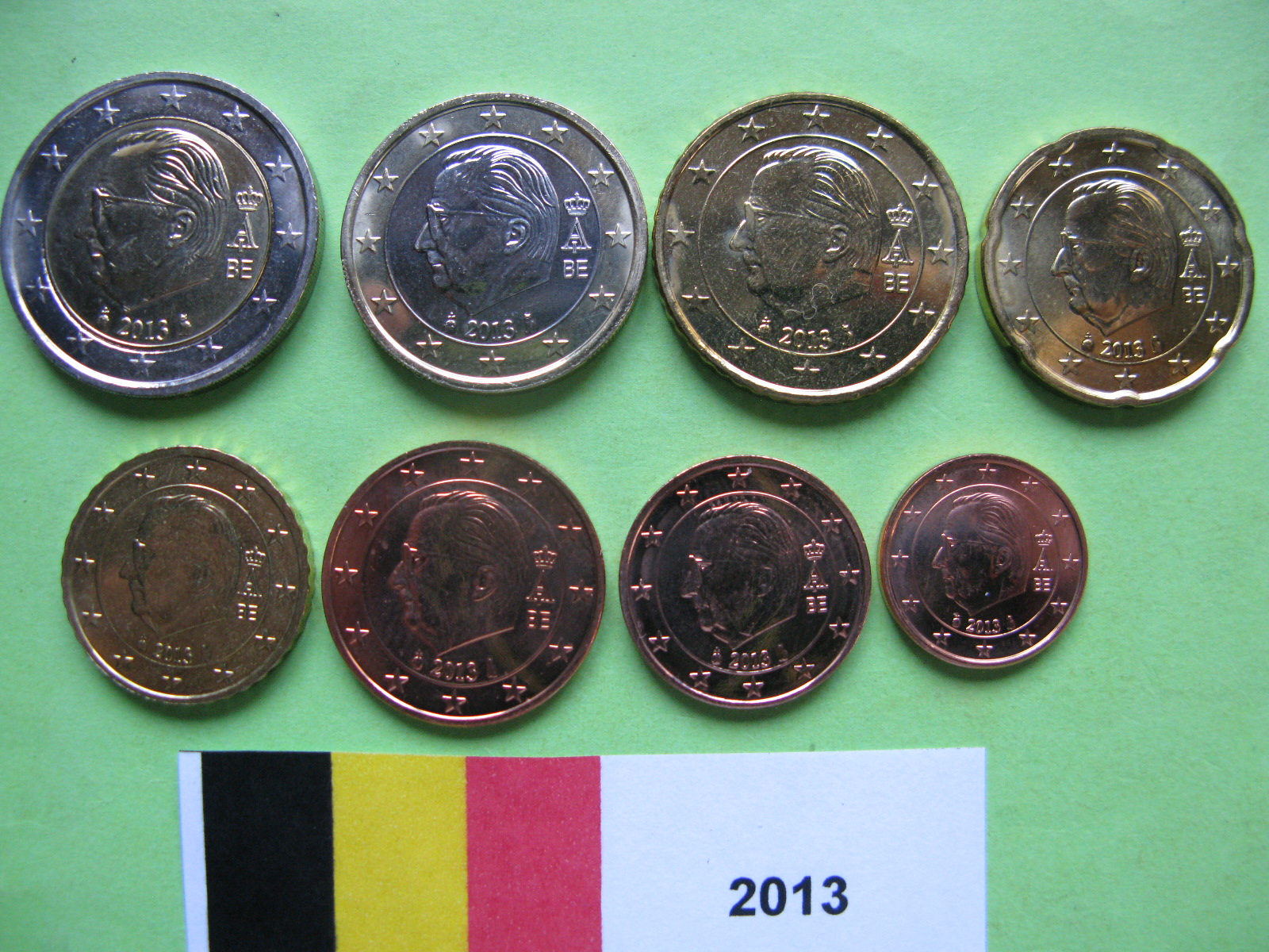 Бельгия набор евро 2013  UNC