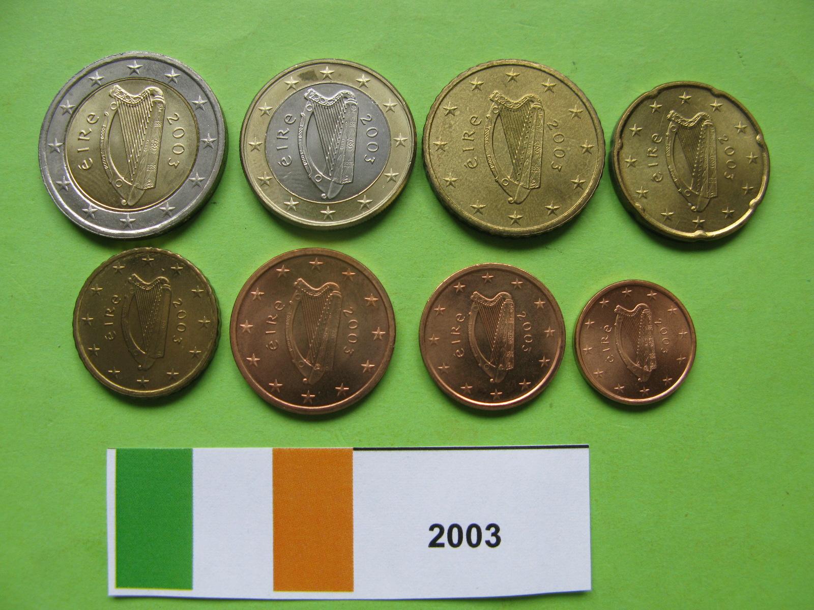 Ирландия набор евро  2003 г. UNC