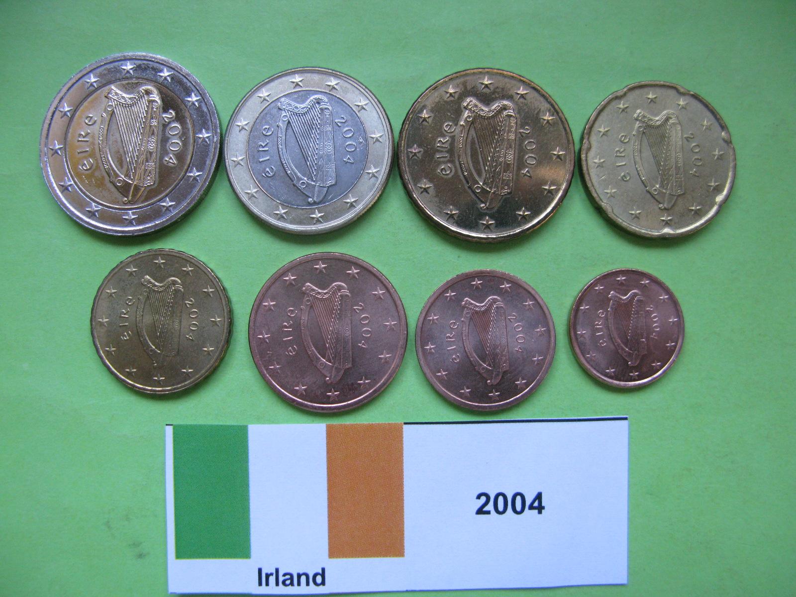 Ирландия набор евро  2004 г. UNC