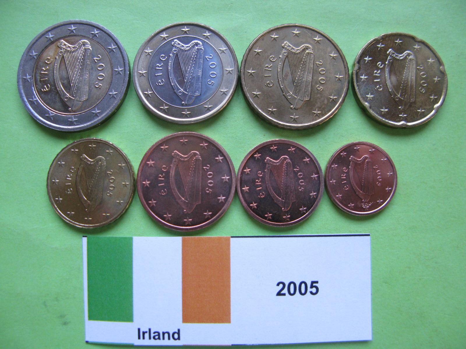 Ирландия набор евро  2005 г. UNC