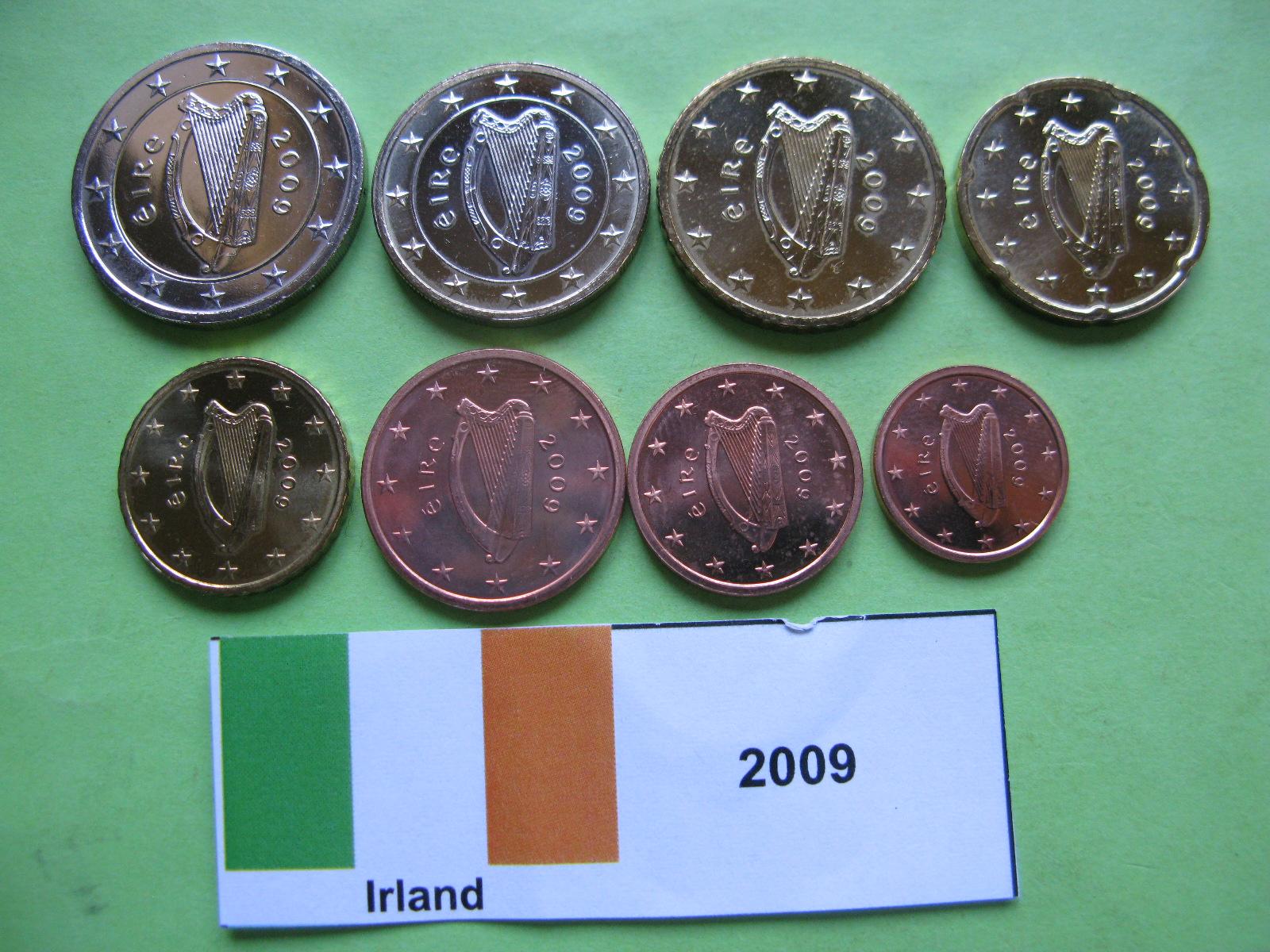 Ирландия набор евро  2009 г. UNC