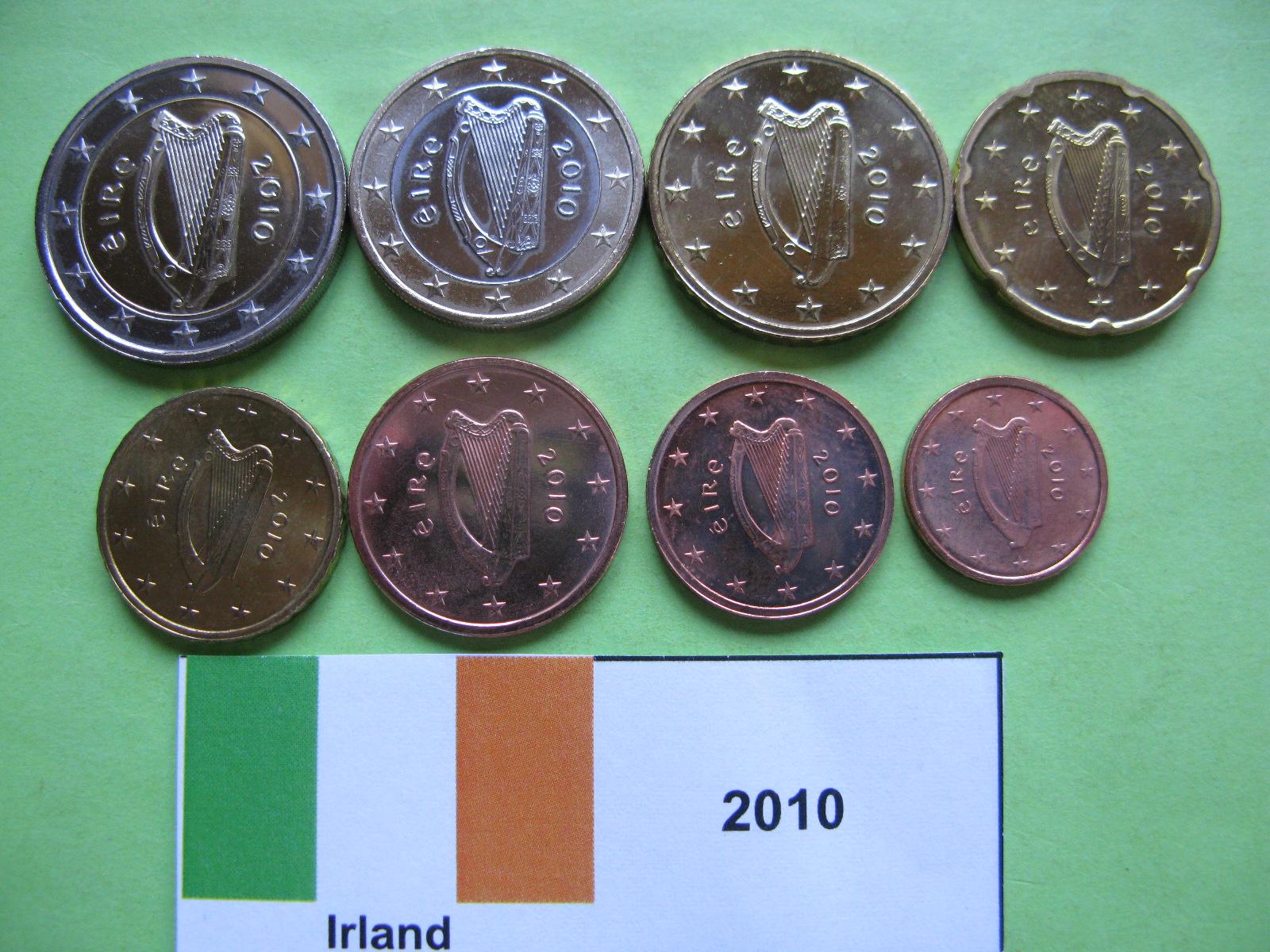 Ирландия набор евро  2010 г. UNC