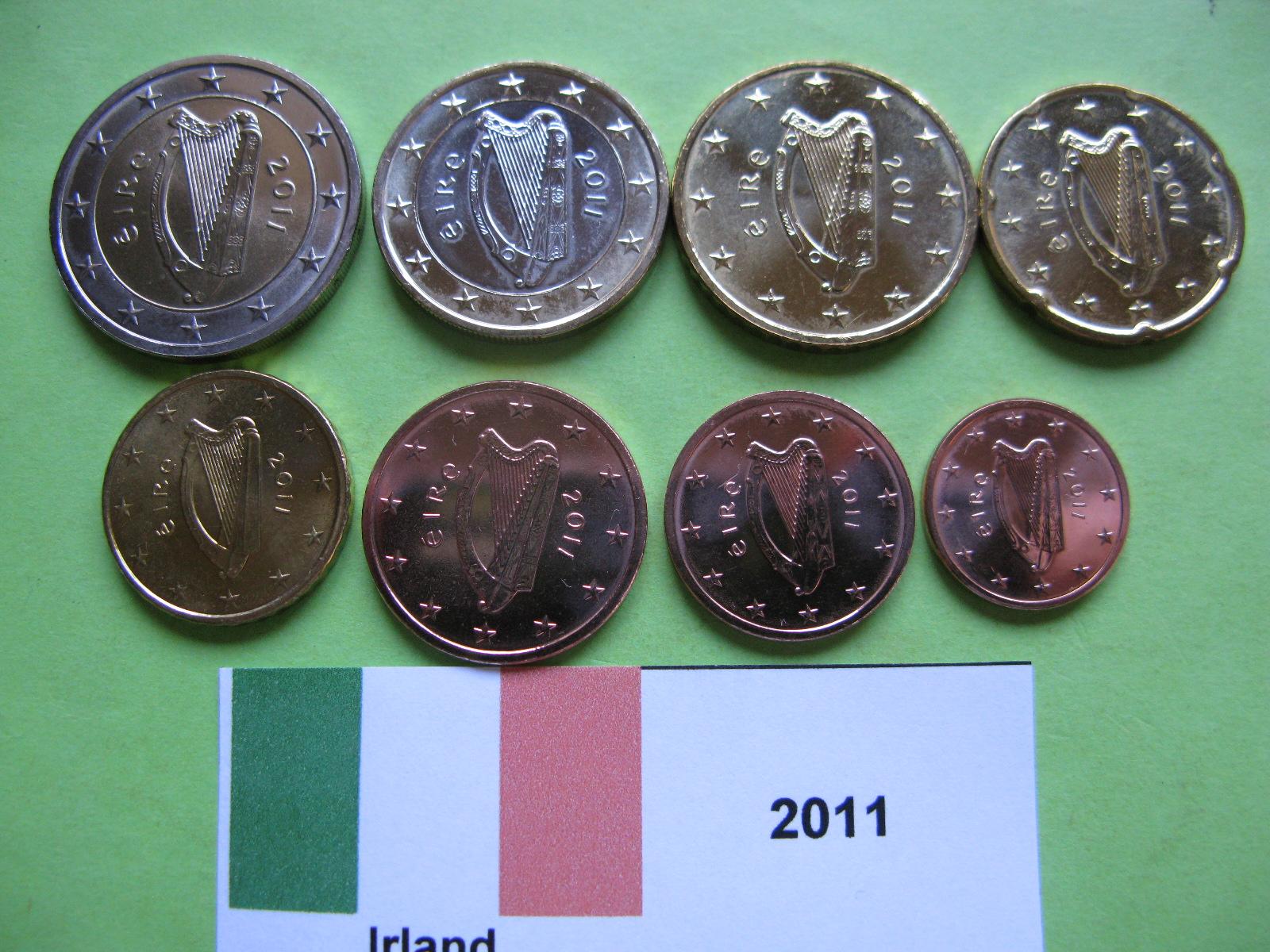 Ирландия набор евро  2011 г. UNC