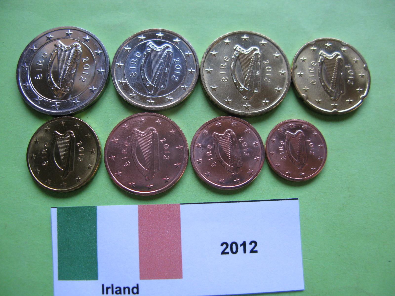 Ирландия набор евро  2012 г. UNC