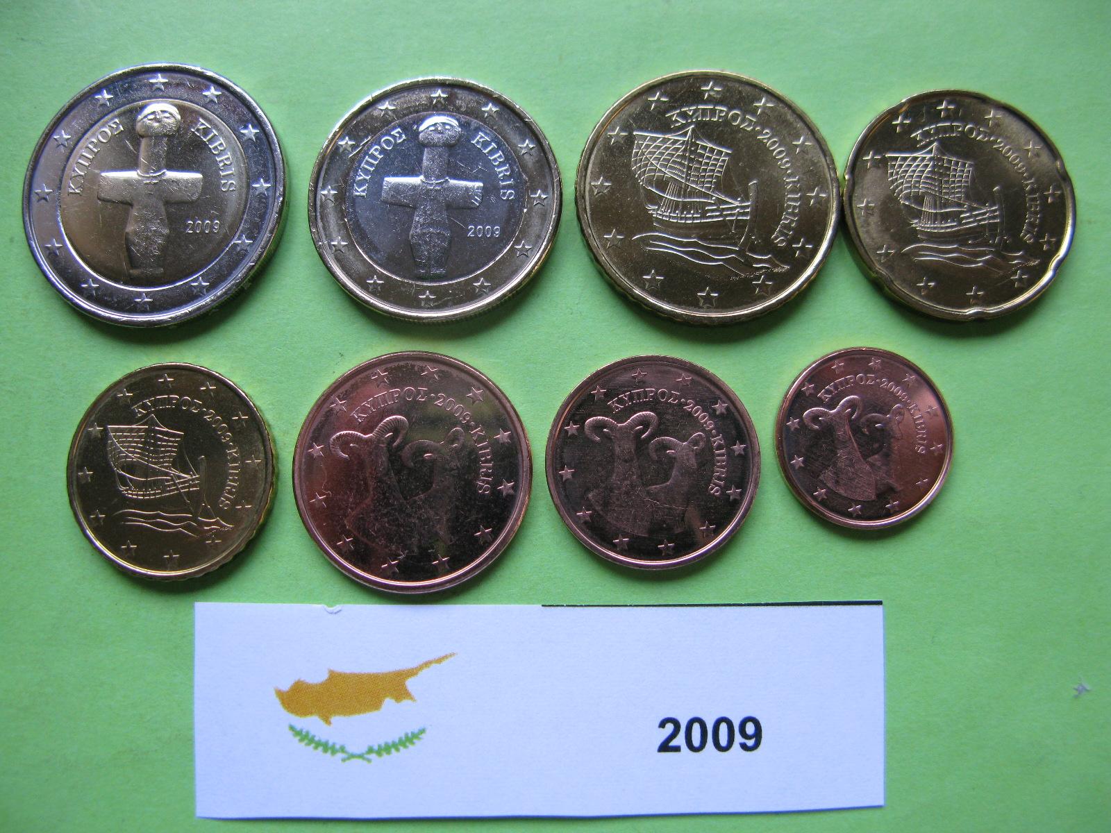 Кипр  набор монет 2009 г.  UNC
