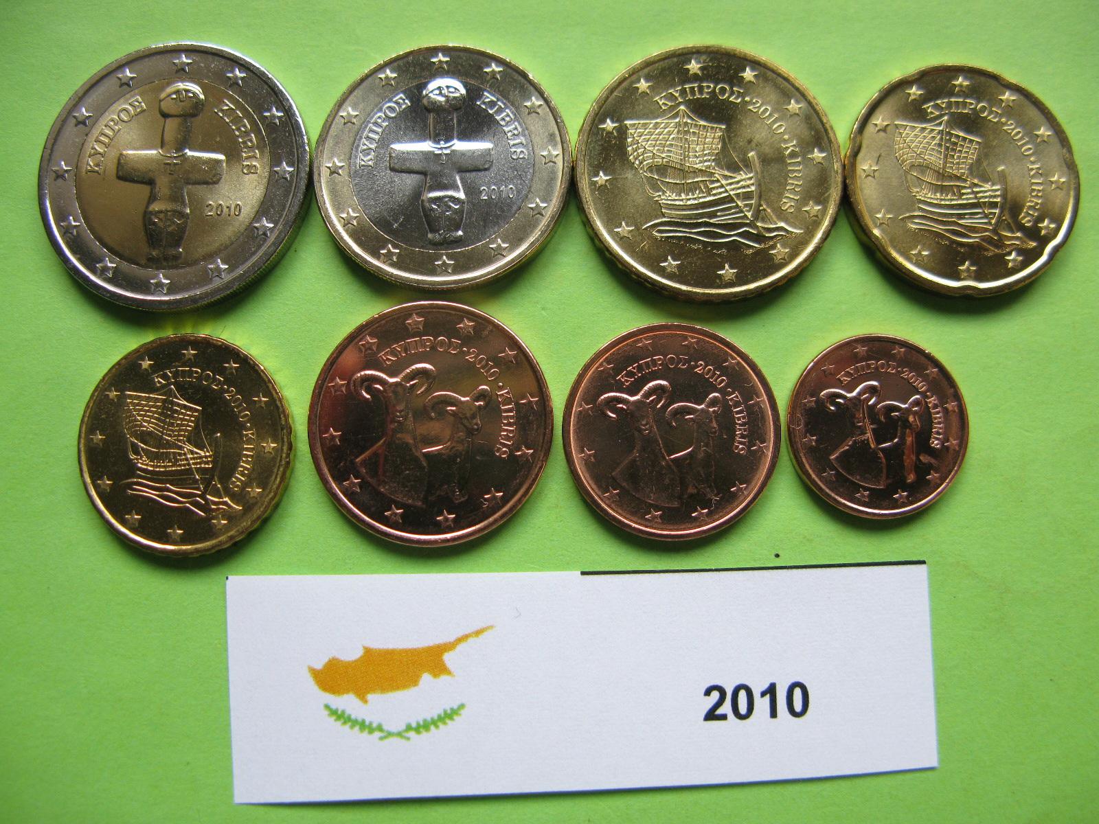 Кипр  набор монет 2010 г.  UNC