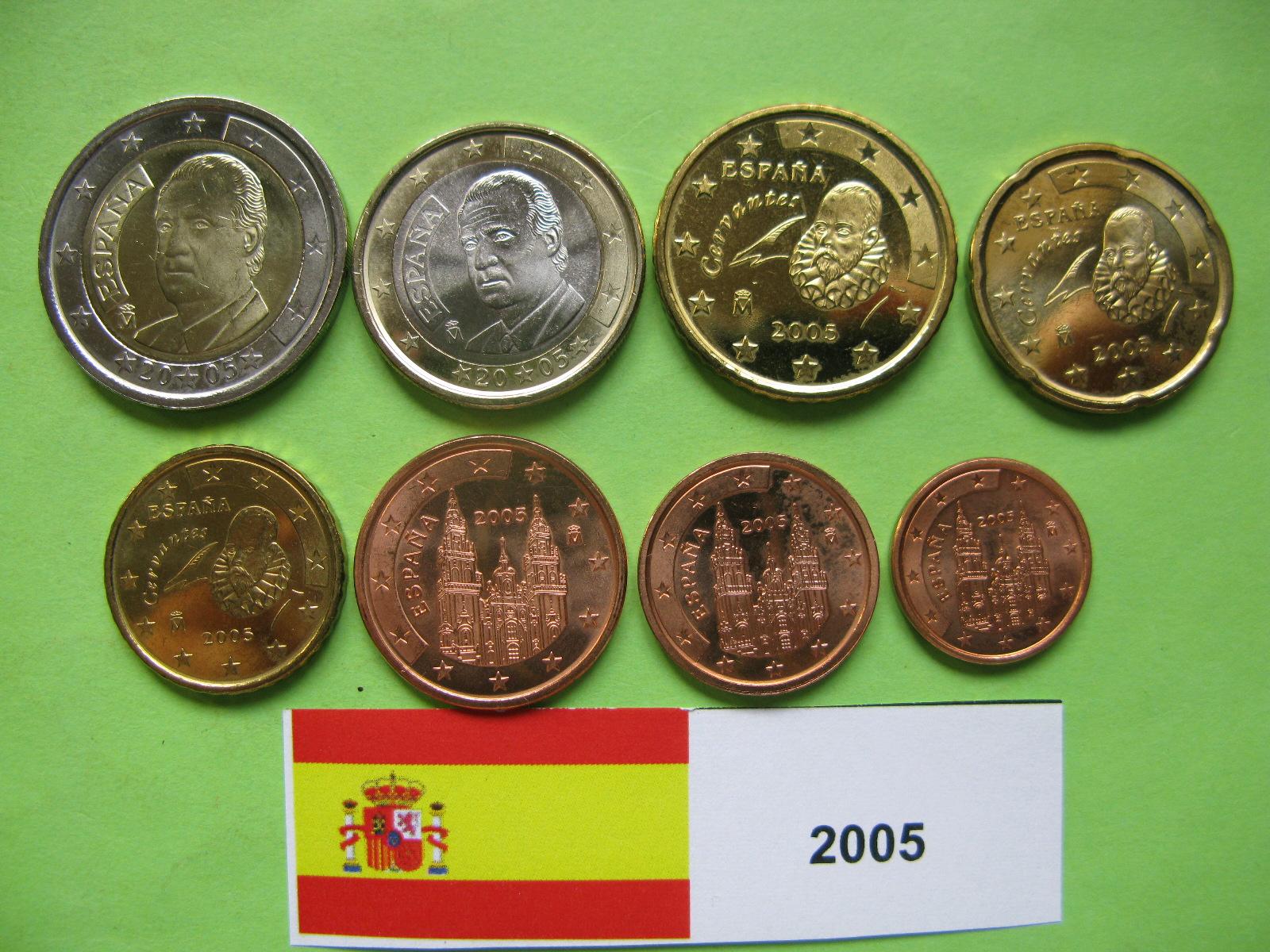 Испания  набор евро  2005  UNC.