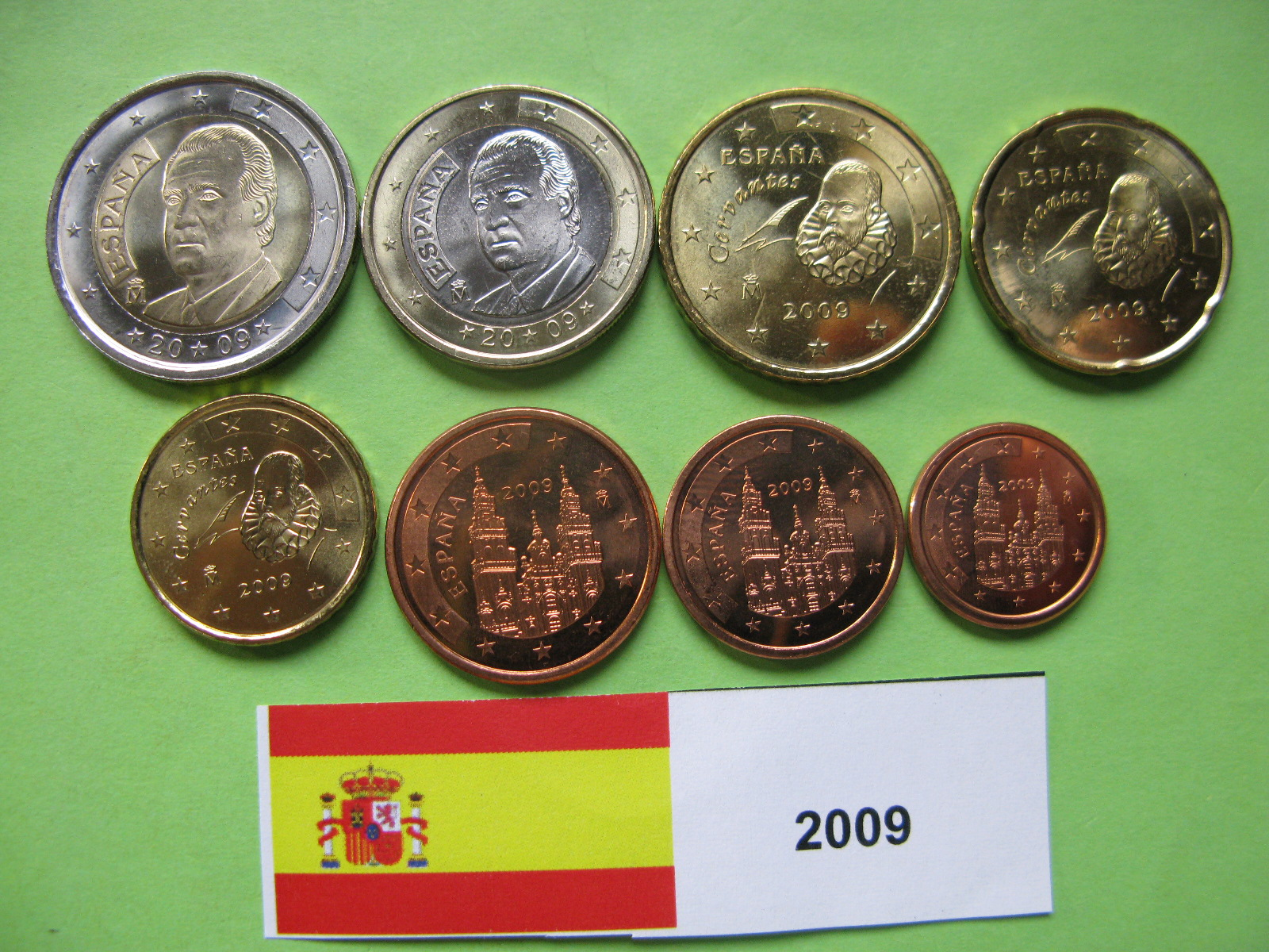 Испания  набор евро  2009  UNC.