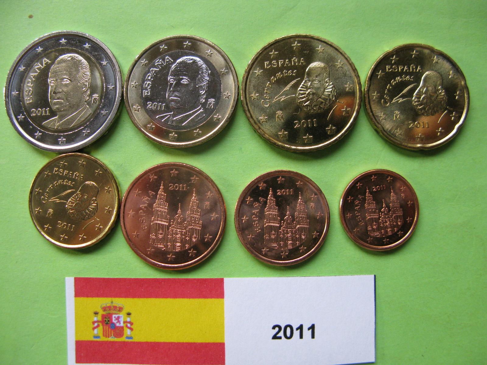 Испания  набор евро  2011  UNC.