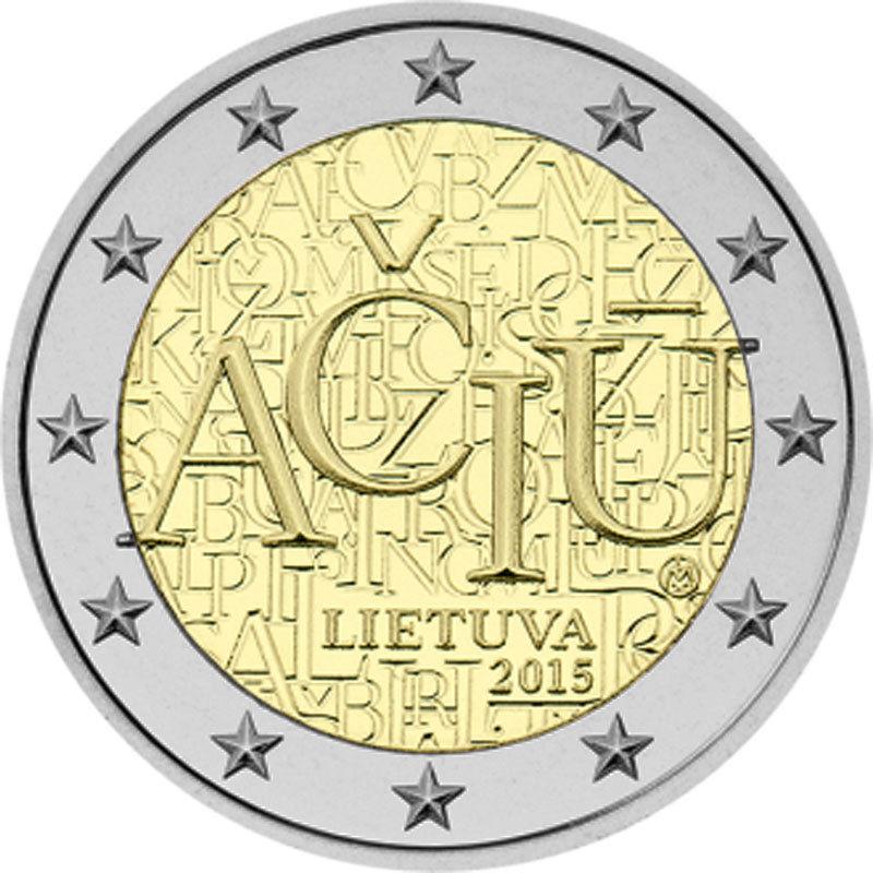 Литва 2 евро 2015 г.  Литовский язык