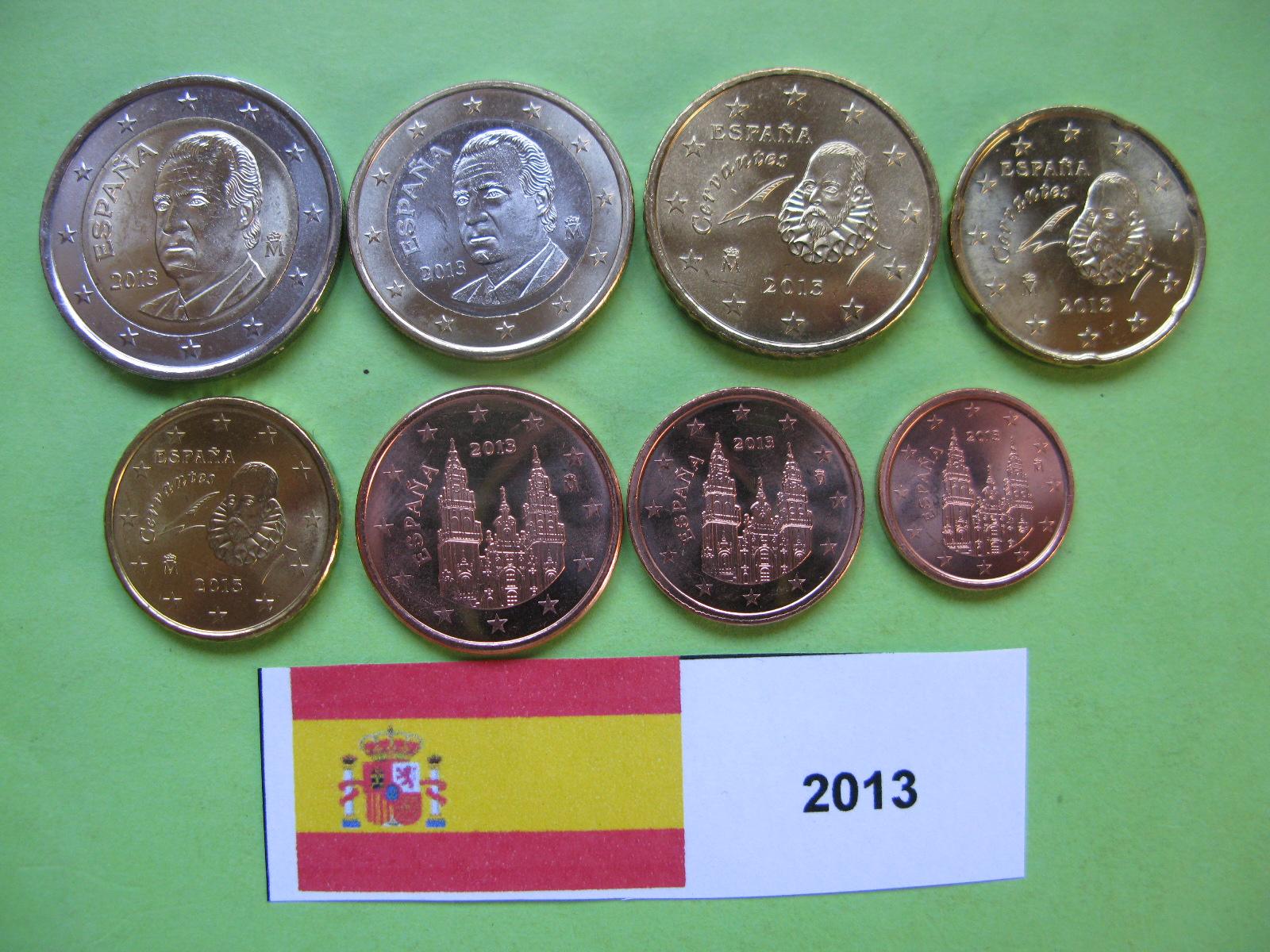 Испания  набор евро  2013  UNC.