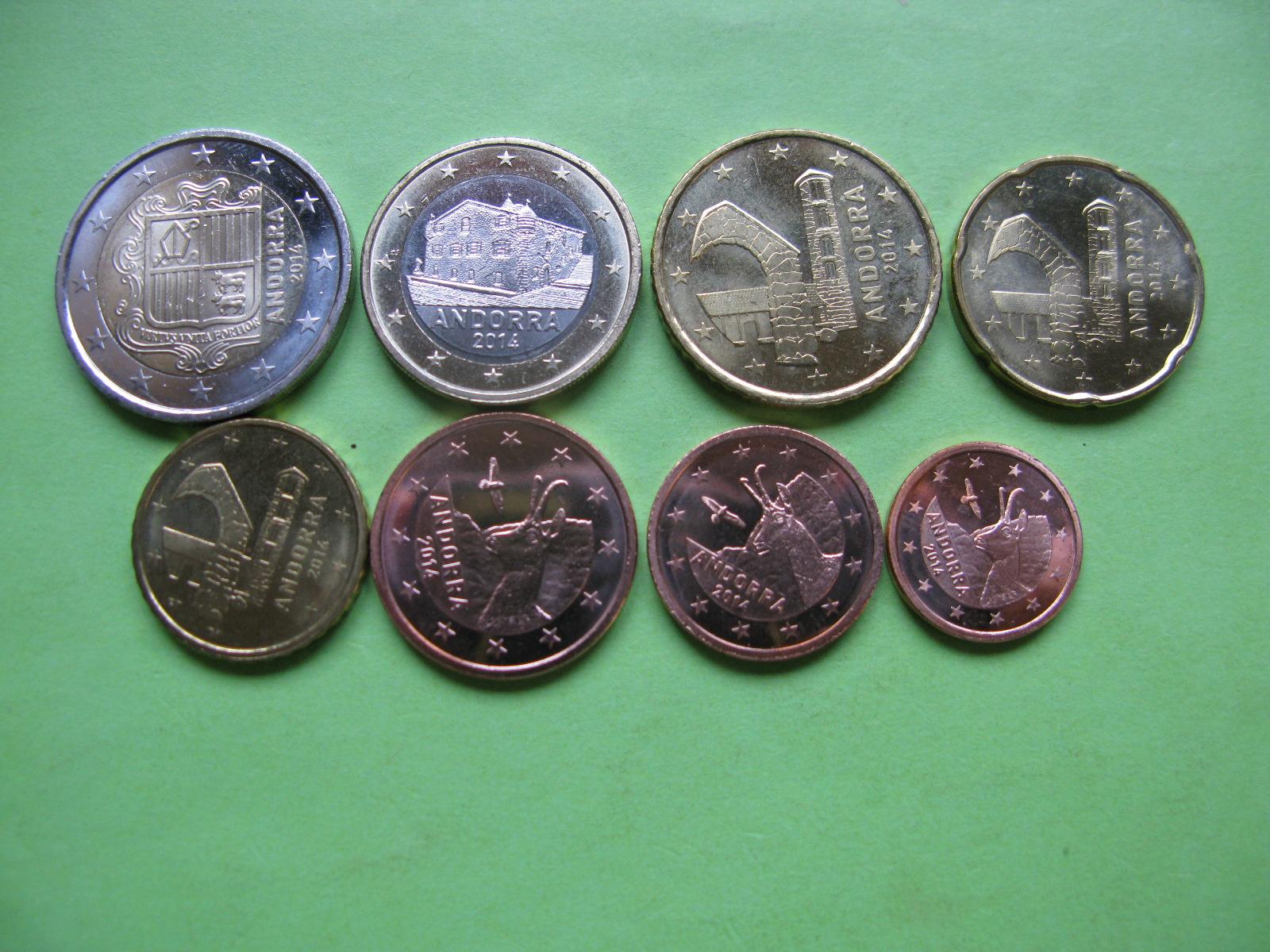 Андорра набор евро 2014  UNC