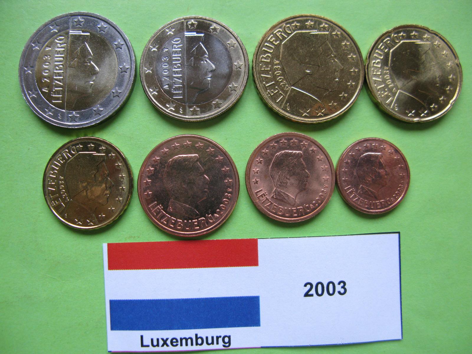 Люксембург набор евро 2003 UNC