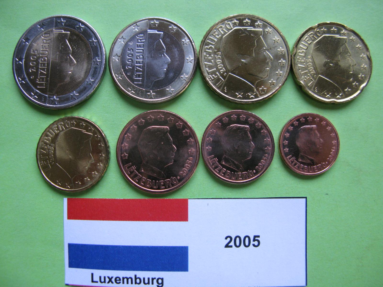 Люксембург  набор евро 2005  UNC
